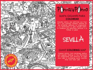 Packaging of the coloring map of Seville