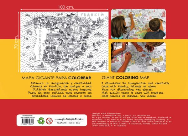 Giant coloring map of Spain - Back cover