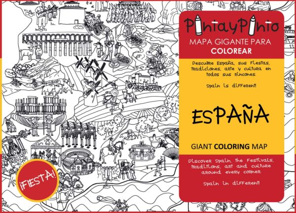 Coloring map of Spain - Front cover